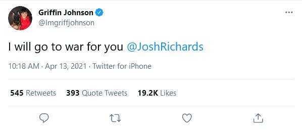 Griffin Johnson Team Josh Richards