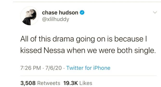 Lil Huddy Nessa Barrett kiss