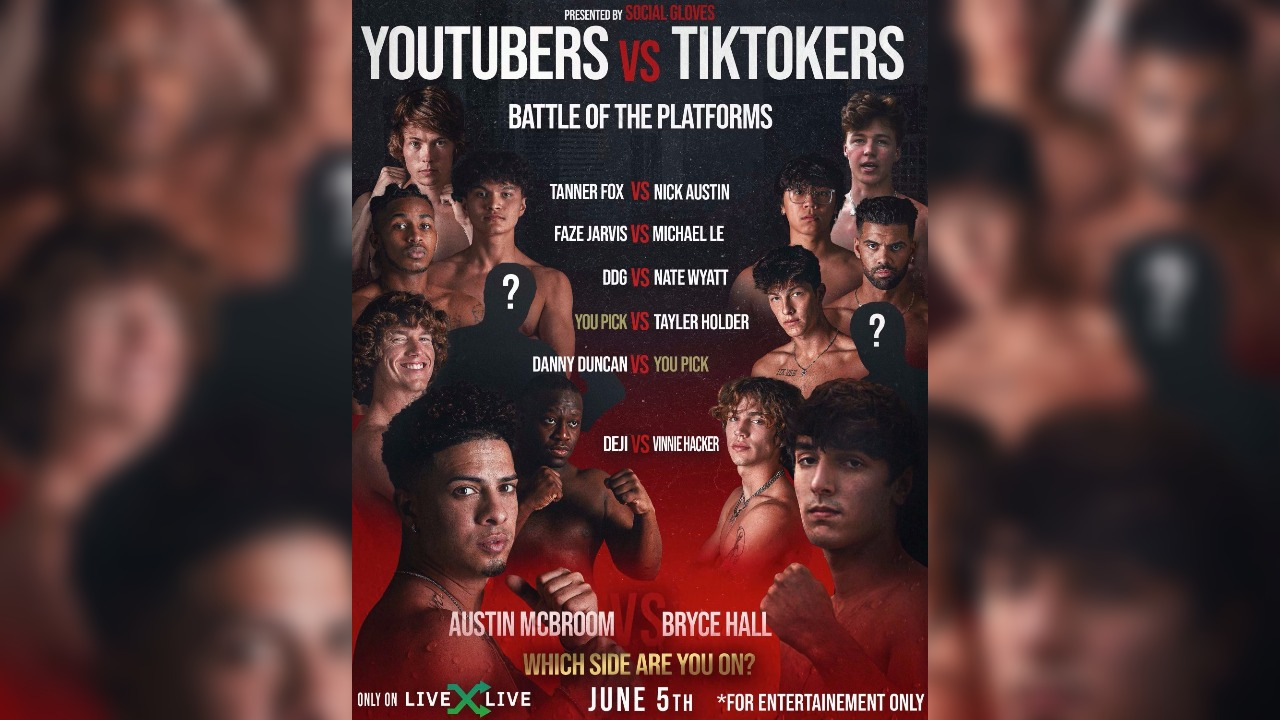 Winners of the YouTubers Vs. TikTokers boxing match!