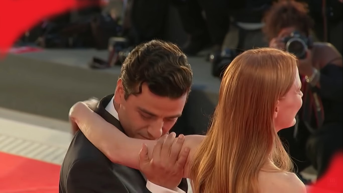 Jessica Chastain Reacts To Outrage Over Oscar Isaac Kissing Her Arm Sensually At Red Carpet