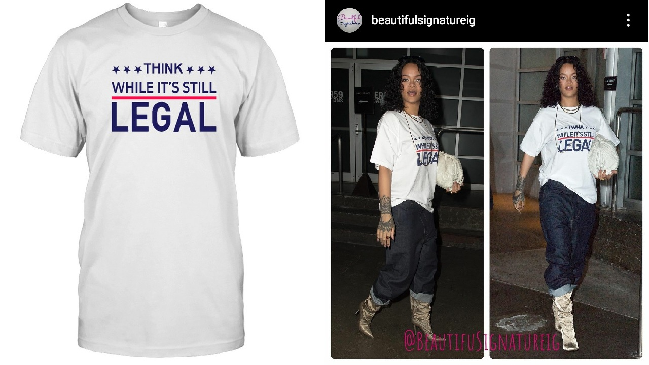 Rihanna Gets Backlash For Her T-Shirt - Fans Accuse Her Of Being A Republican